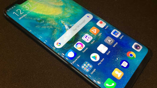 Huawei released new Mate 20 series smartphones Tuesday in London.