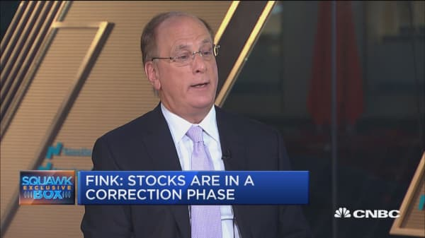 BlackRock's Fink: We aren't going to 'run away' from Saudi