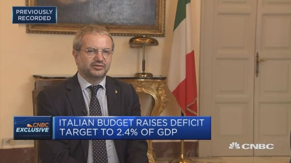 Proposed budget is exactly what Italy needs to cope with chronic lack of growth, says Lega advisor
