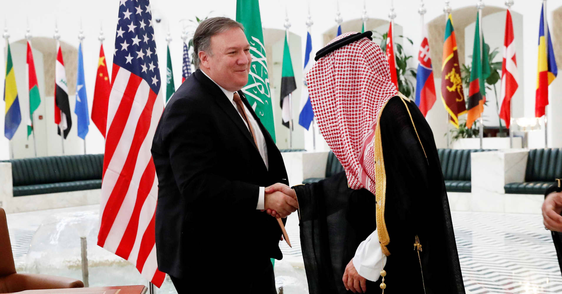 Top US diplomat in Saudi Arabia for talks over Khashoggi