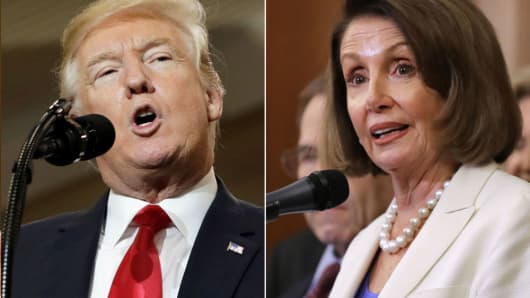 GOP group's ad blitz gives voters a choice ahead of the midterms: It's either Trump or Pelosi