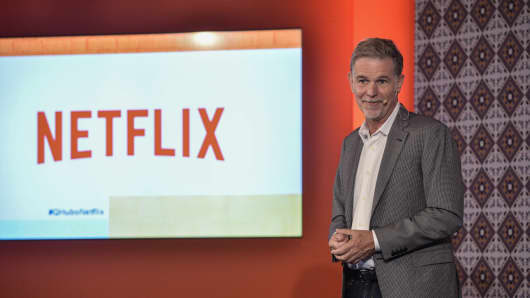 Netflix CEO Reed Hastings speaks during Netflix Slate Event 2018 at JW Marriot on October 9, 2018 in Bogota, Colombia.