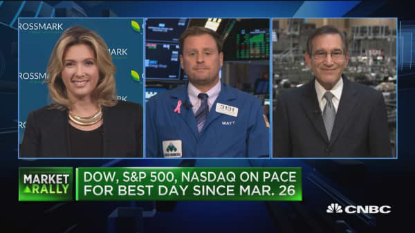 Closing Bell Exchange: Major indices on pace for best day since March 26th