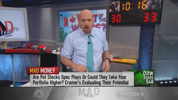 Cramer: 'Cannabis might be the most disruptive force since Amazon' for pharma, beverage industries
