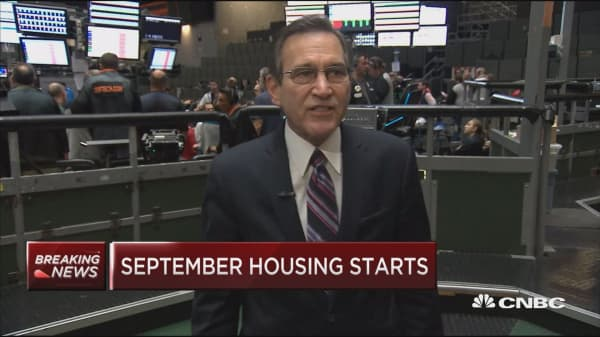 September housing starts down 5.3% vs. 4.8% estimate