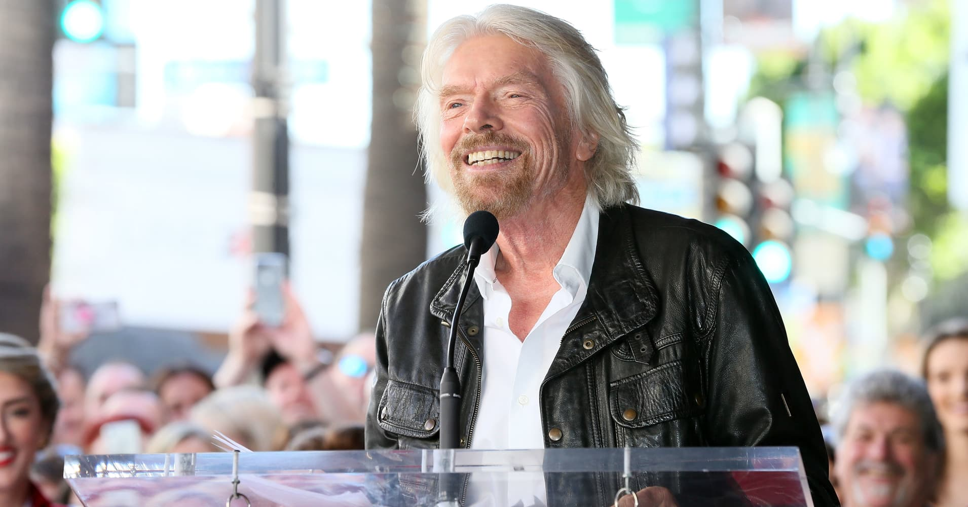 Sir Richard Branson is honored with a Star on the Hollywood Walk of Fame.