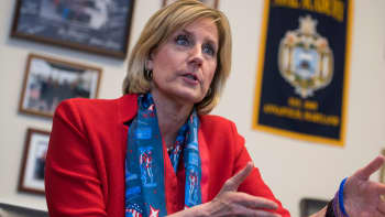 Rep. Claudia Tenney, R-N.Y., is interviewed in her Cannon Building office on March 7, 2018.