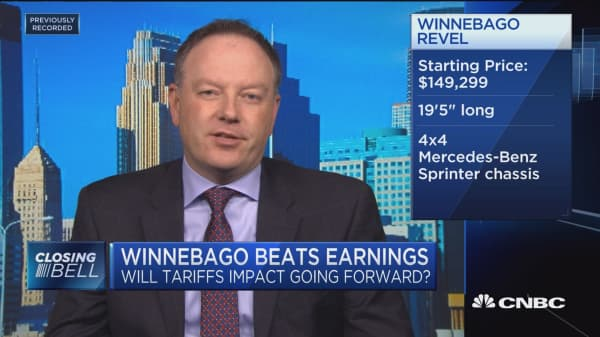Winnebago CEO says company continues to see healthy demand for RVs