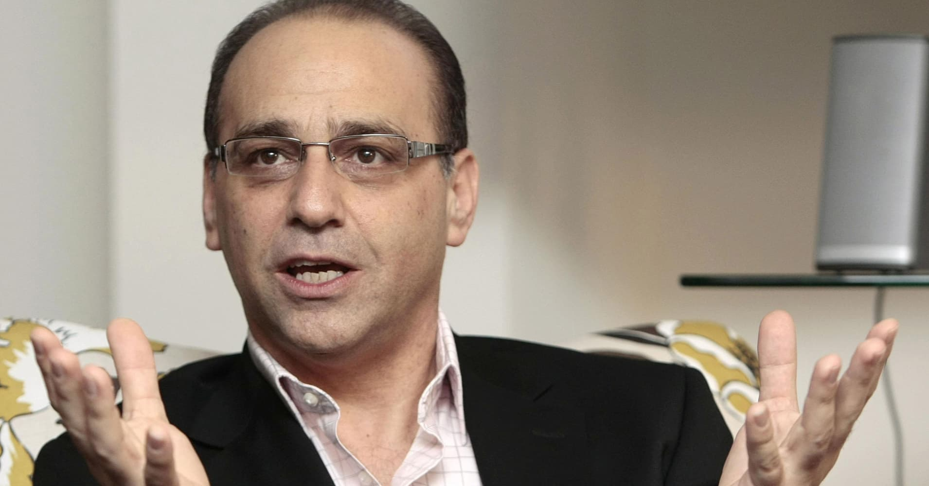 Dragons Den star Theo Paphitis speaks at the launch of the Smarta website in central London.