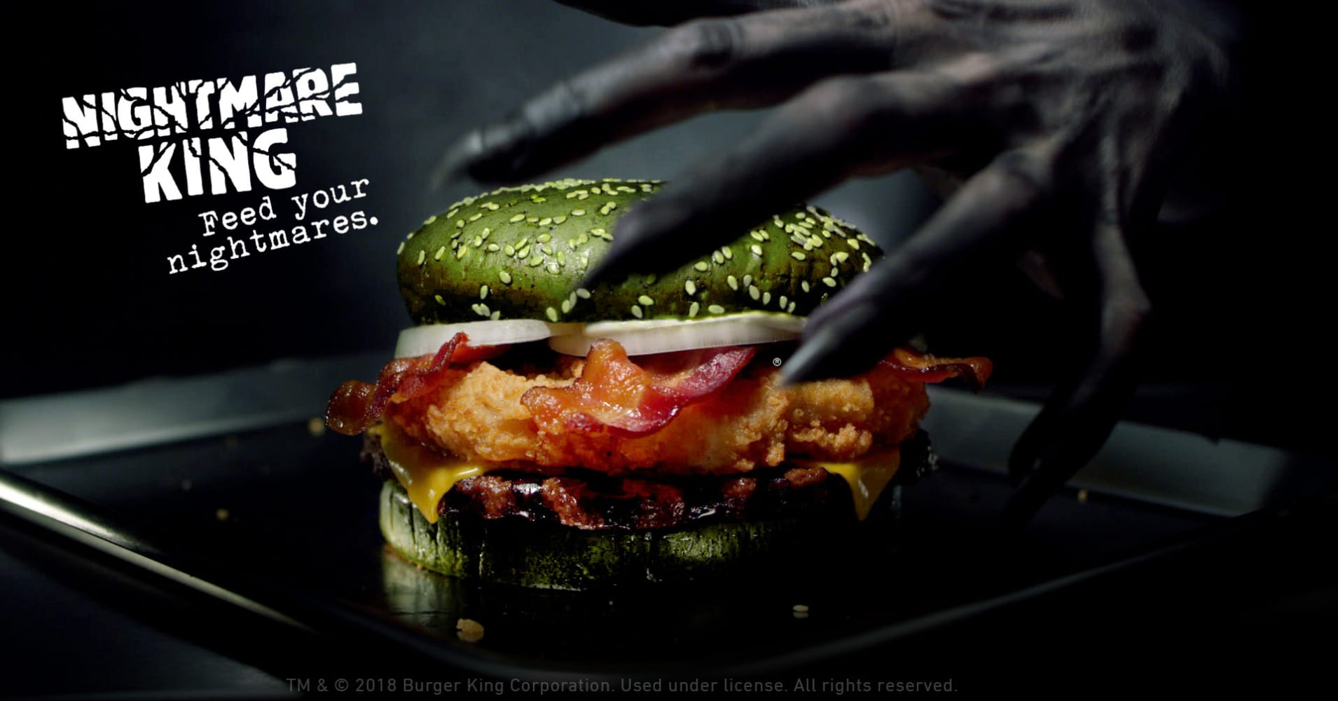 Burger King creates 'nightmare' burger with green bun — and says it will give people bad dreams