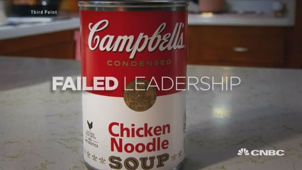 Activist hedge fund manager Loeb goes after Campbell Soup with critical video