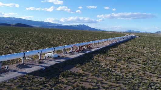 Virgin Hyperloop One built the world's first working, full-sized hyperloop test in Nevada. It ran last year for a little less than a third of a mile, and accelerated a 28-foot pod to 192 miles per hour in a few seconds.