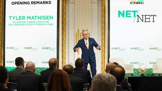 CNBC's Tyler Mathisen speaking at Net/Net at the New York Stock Exchange on Oct. 16th, 2018.