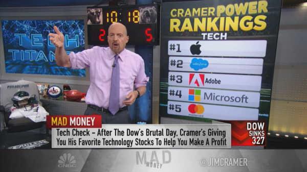 Cramer's 5 favorite tech stocks right now