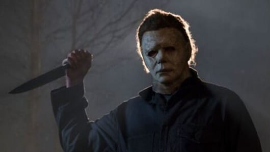 A scene for the movie Halloween released in 2018.