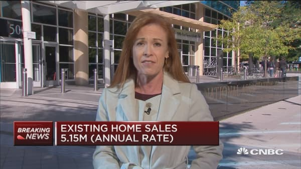 Existing home sales down 3.4% in September