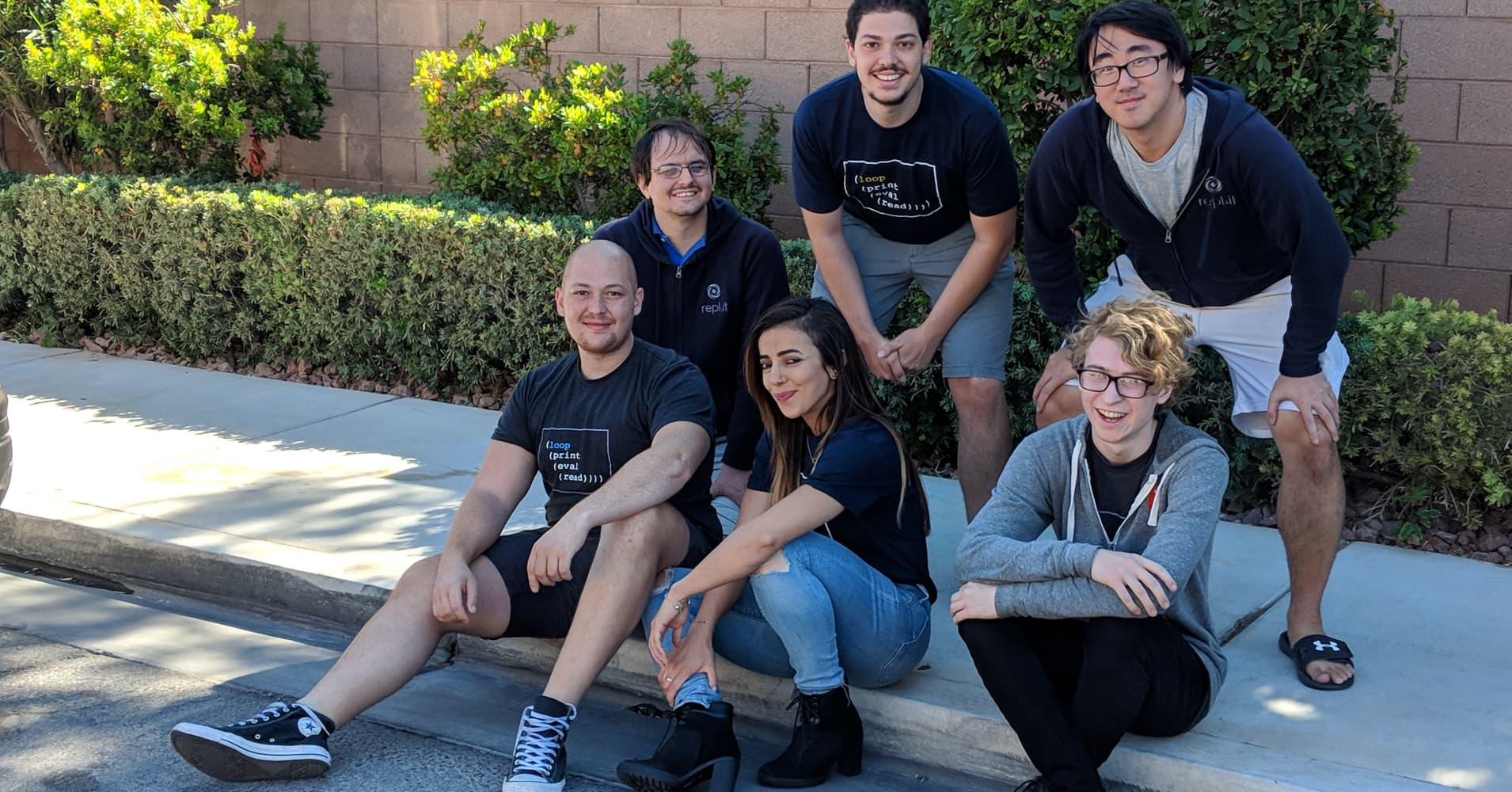 Repl.it Co-founders Amjad Masad (bottom left) and Haya Odeh (bottom middle) have raised a $4.5 million seed round led by Andreessen Horowitz.