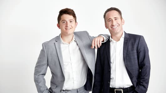 Jonah (left) and his father David Stillman founded generational consulting firm Gen Z Guru.
