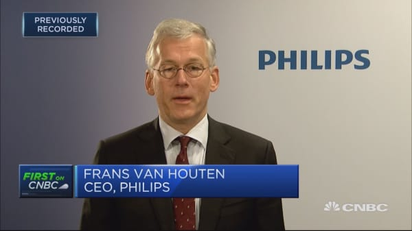 Philips CEO: Had high single-digit revenue growth in China