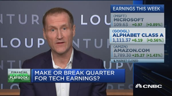 Expert: One quarterly earnings report won't make or break any of the big tech stocks