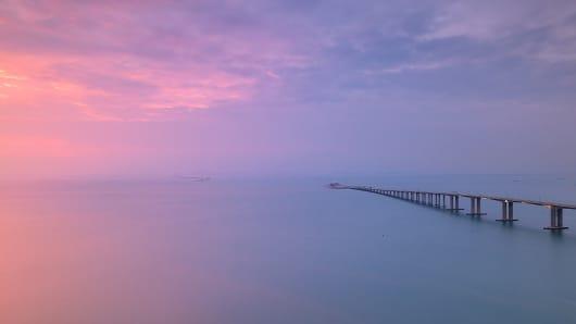 The Hong Kong-Zhuhai-Macau Bridge.