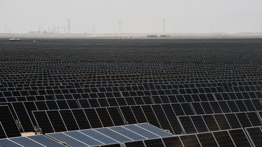 This image shows the Villanueva photovoltaic power plant, operated by Italian company Enel Green Power in Coahuila State, Mexico.