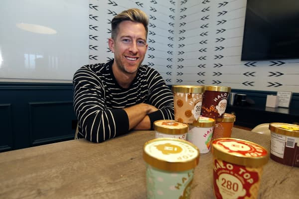 Halo Top founder and CEO Justin Woolverton h