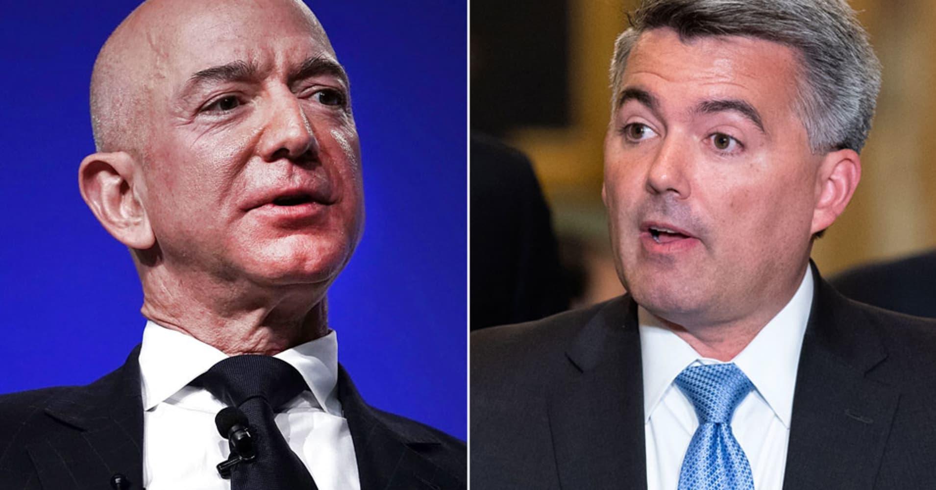 Jeff Bezos, Amazon Execs Pump Cash into GOP Sen. Cory Gardner's Re-election Campaign