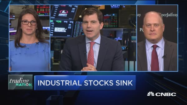 Trading Nation: Industrial stocks sink