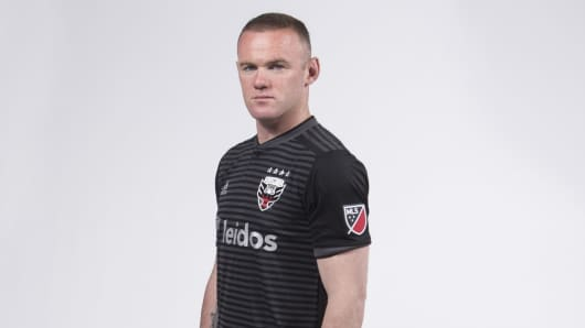 Wayner Rooney sports the new MLS jersey.