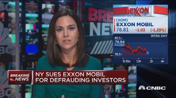 New York sues Exxon Mobil for defrauding investors