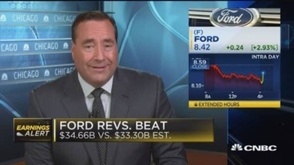 Ford beats earnings, revenue expectations