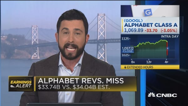Alphabet beats earnings, misses revenues expectations