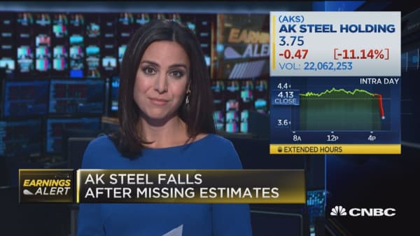 AK Steel misses earnings expectations
