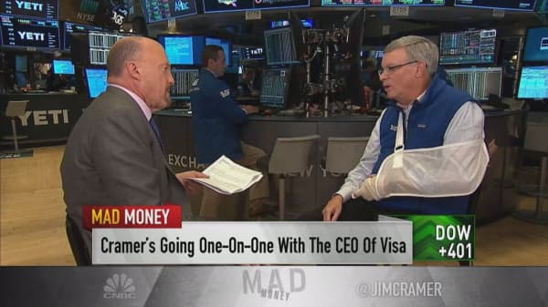 Visa CEO: Cryptocurrencies are not a big threat