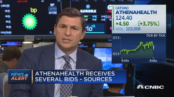 Athenahealth receives several bids: Sources