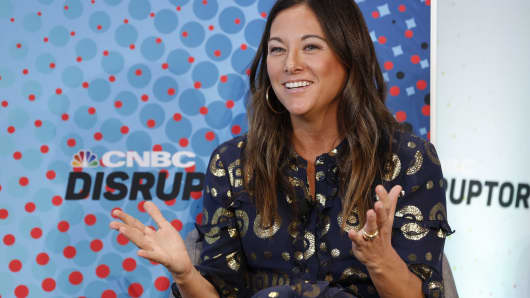 Rent the Runway chief operating officer Maureen Sullivan at the CNBC Disruptor 50 Road Show event in Philadelphia on October 24, 2018.