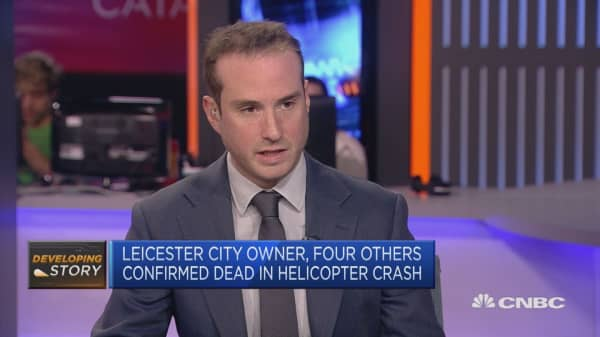 Leicester soccer club confirms owner died in helicopter crash