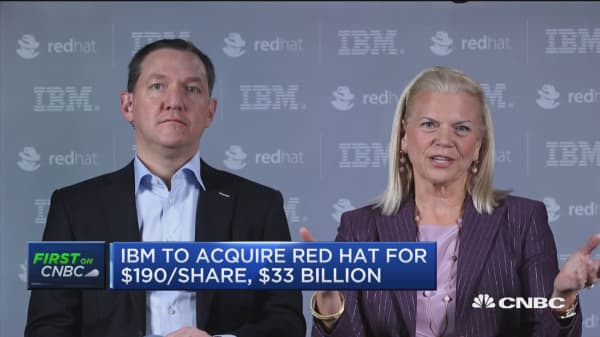 IBM-Red Hat deal is all about resetting the cloud lanscape, says IBM CEO Rometty