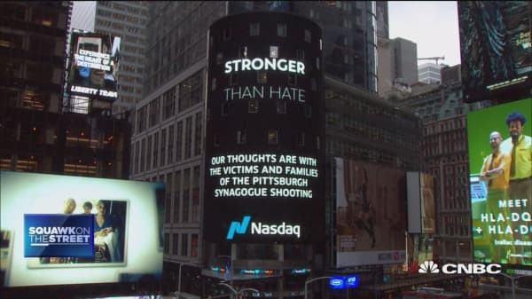 NYSE, Nasdaq observe moment of silence for synagogue shooting victims