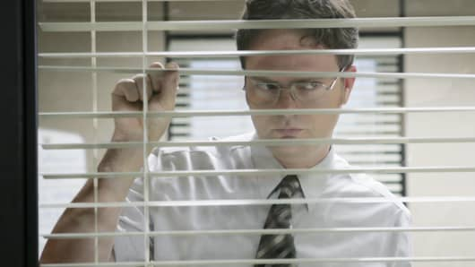 Rainn Wilson as Dwight Schrute in NBC's The Office -- Photo by: Justin Lubin/NBCU Photo Bank