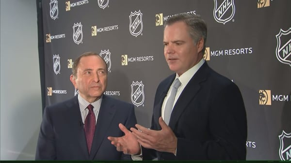MGM CEO and NHL commissioner on new sports betting deal