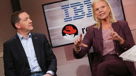 Jim Whitehurst, CEO of Redhat and Ginni Rometty, CEO of IBM discuss IBM's acquiring Redhat.