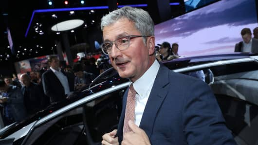 Rupert Stadler, former head of German automaker Audi.