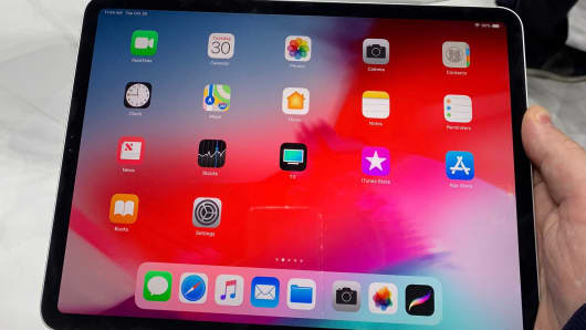 Apple unveils a newApple iPad Pro in Brooklyn, New York, October 30, 2018.