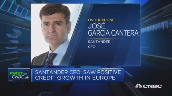 Santander CFO: See positive trends in markets we operate in