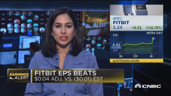 FitBit jumps on unexpected profit, AIG reports EPS miss
