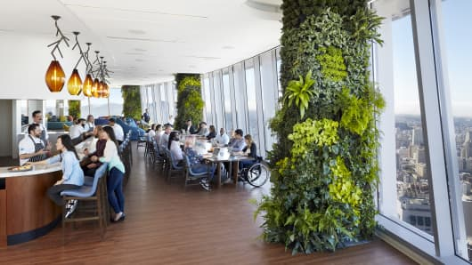 The Ohana floor in Salesforce Tower.