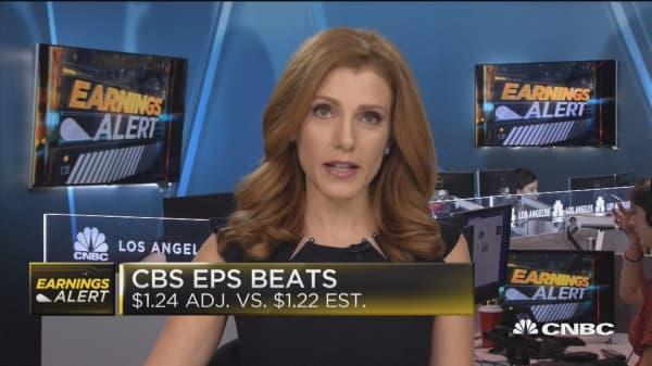 CBS beats earnings, revenues expectations