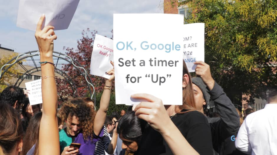 Thousands of Google employees walk out in protest of sexual harassment